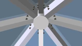 Зенитный фонарь 4800х5450мм. 3D визуализация изнутри.(Выполним 3D визуализацию сложных пространственных конструкций (зимние сады, зенитные фонари и т.д.). В масшта..., 2015-01-27T18:51:21.000Z)