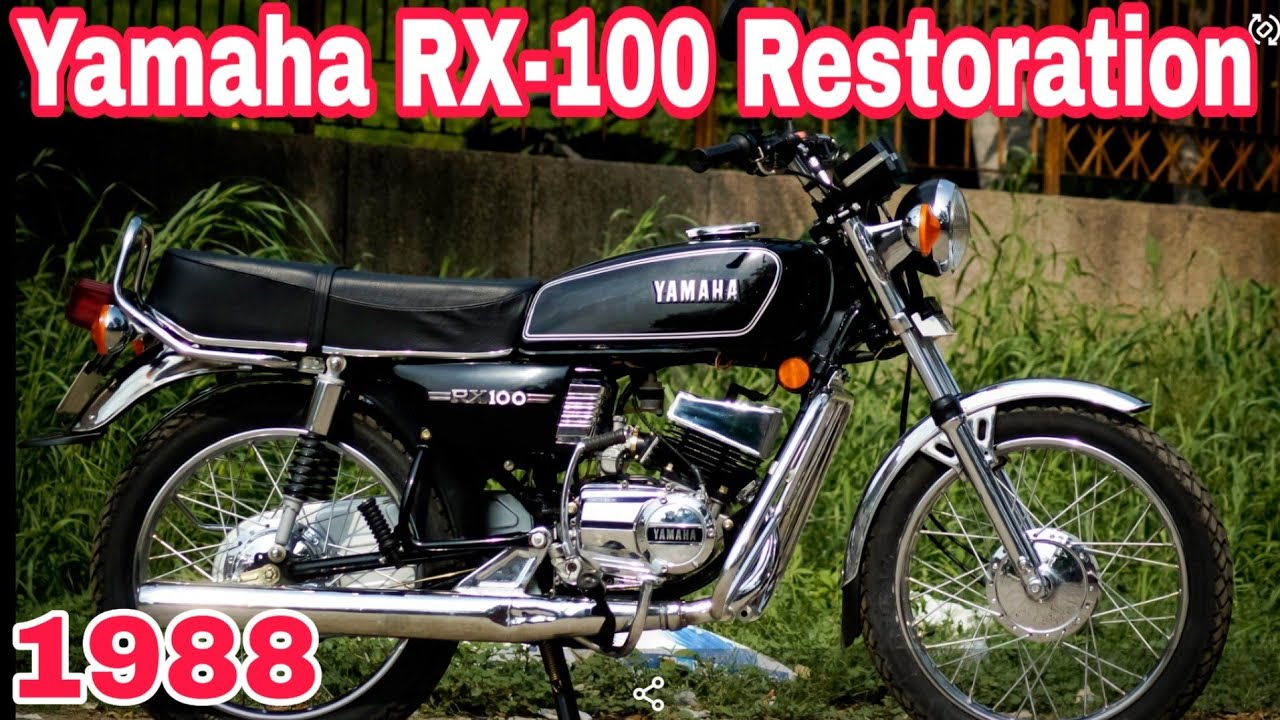 Yamaha RX100 full restoration completed👍   1988 model   part-5   NCR Motorcycles  