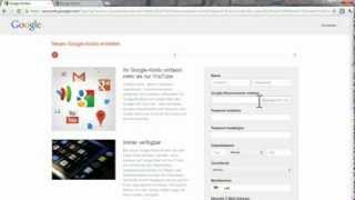 Youtube / Google Account Ohne Gmail erstellen 2012