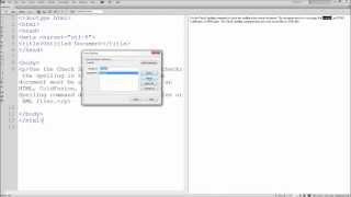 60 Second Dreamweaver Tutorial : Spell Check Your Website -HD-