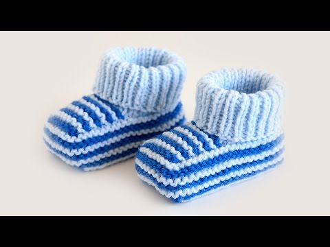 Пинетки для мальчика крючком Красивое вязание