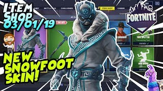Fortnite Item Shop *NEW* SNOWFOOT SKIN GAMEPLAY! [January 3rd, 2019] (Fortnite Battle Royale)