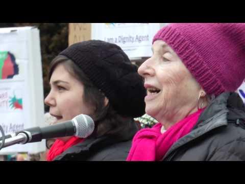 Montpelier #WomensMarch - Madeline Kunin