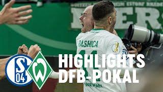 Schalke 04 - Werder Bremen 0:2 (Highlights) Rashica & Klaassen Tore - Werder im Halbfinale!