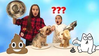 Обычная Собака против Игрушки Челлендж! DOGGIE DOO ! Family Game challenge | ПоллиАнна
