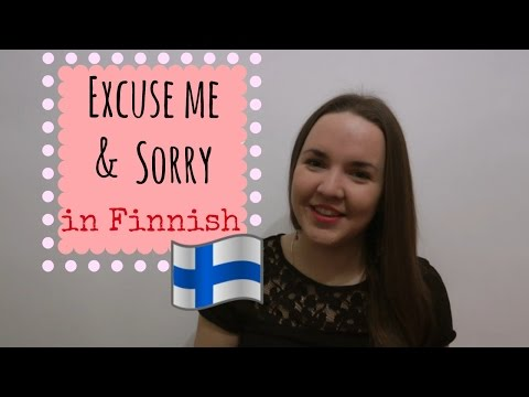 Finnish lesson 9. I'm Sorry. (Excuse me) - Never mind. Opiskele suomea. Уроки финского.