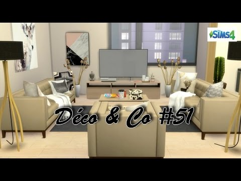 Les sims 4 d co co 51 grand appartement moderne for Deco appartement sims 4