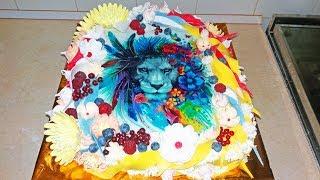 Яркий Торт Для Львов / Bright Cake For Lions / LoraCake