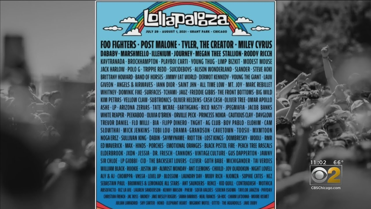 Lollapalooza lineup 2021 released after festival announces return ...