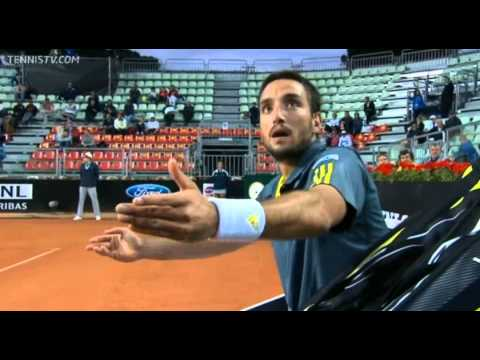 Viktor Troicki goes crazy in Rome while playing Ernests Gulbis