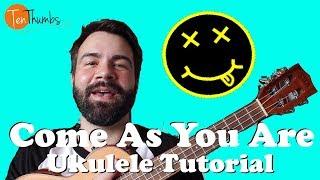 Come As You Are - Nirvana - Ukulele Tutorial with tabs, lyrics, play-along - classic rock music for ukulele