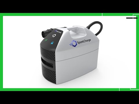 SparkCharge is a portable charging station for electric vehicles