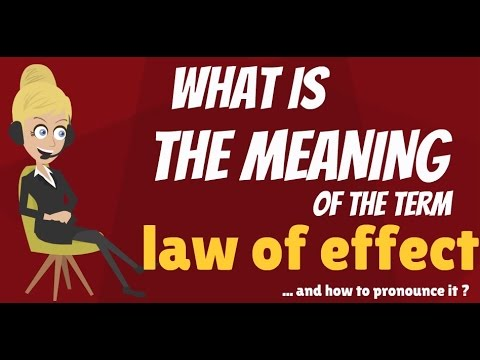 thorndikes law of effect example