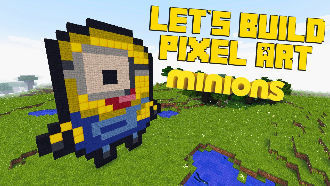 Minecraft Pixel Art Minion Template
