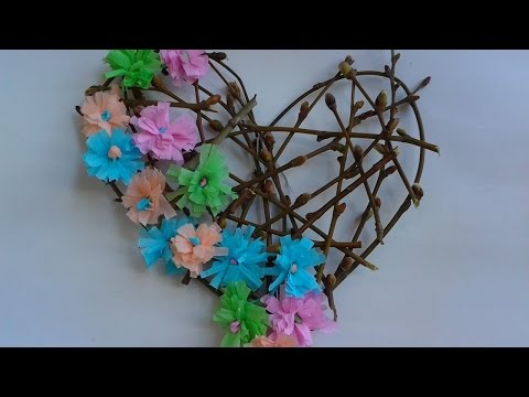 Make a Wreath with Branches and Paper Flowers - DIY Home - Guidecentral