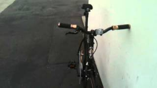 3G BIKES FIXIE  GLOSSY BLACK AND SOFT GOLD