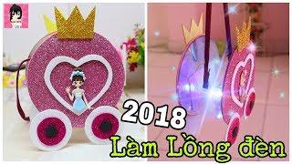 Trung thu 2018 🎉 Hướng dẫn làm lồng đèn CỔ XE LỌ LEM  siêu lấp lánh Ami DIY