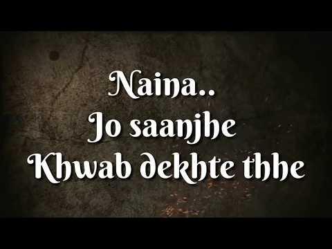 Naina Song From Dangal movie   Whatsapp Status video  Sad  Girls  Boys  Lover's