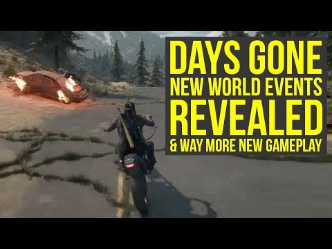 Days Gone PS4 - NEW GAMEPLAY Shows World Events, New Features & More (Days Gone Gameplay) thumbnail