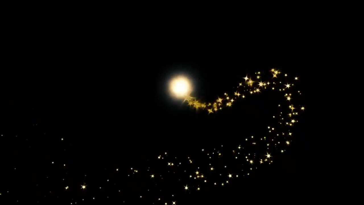 Футаж Комета Из Золотых Блесток - Youtube-6062
