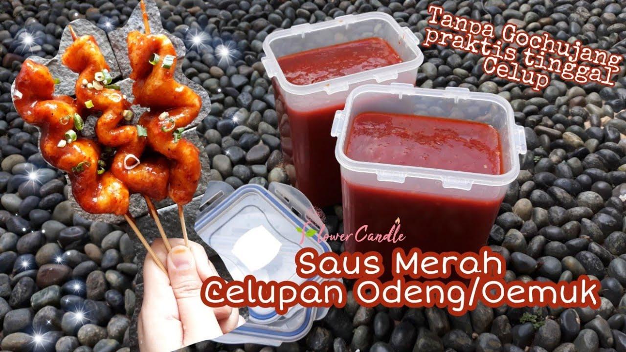 Buat Saus Merah Odeng Eomuk Tanpa Gochujang Odeng Lembaran Saus Pedas Korean Spicy Fish Cake Youtube