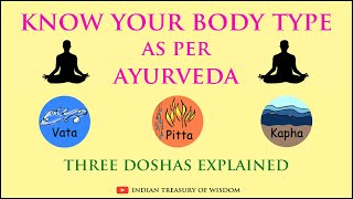 Know your Body Type as per Ayurveda   Vata Pitta and Kapha Doshas Explained (Hindi)  