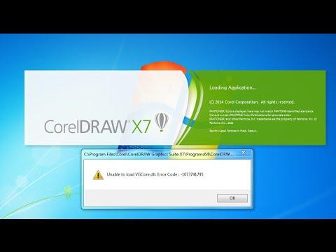 Vgcore Dll Solve Instal Corel X7 Youtube