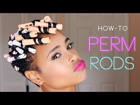 How to: Perm Rods! (TWA tapered natural hair)
