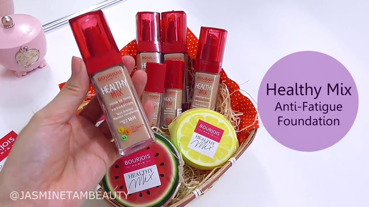 Swatches Bourjois New Healthy Mix Foundation Concealer Youtube