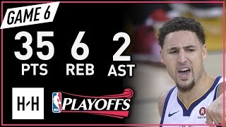 Klay Thompson Full Game 6 Highlights vs Rockets 2018 NBA Playoffs WCF - 35 Pts, 6 Reb, 2 Ast!