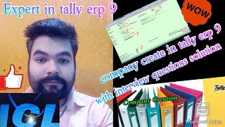how to create company in tally erp.9 | icl classes | By RAHUL SINGH |