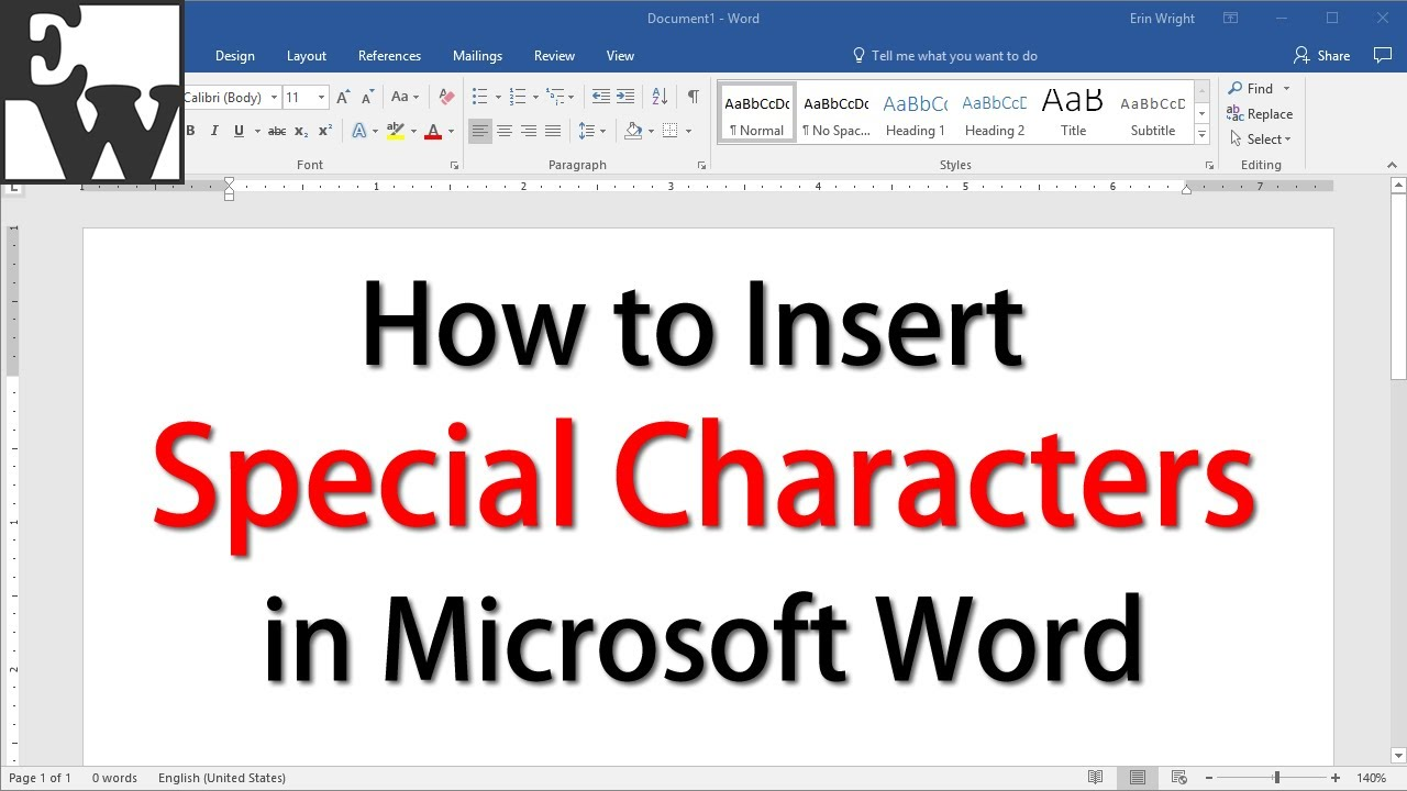 How to insert special characters in microsoft word youtube buycottarizona Gallery
