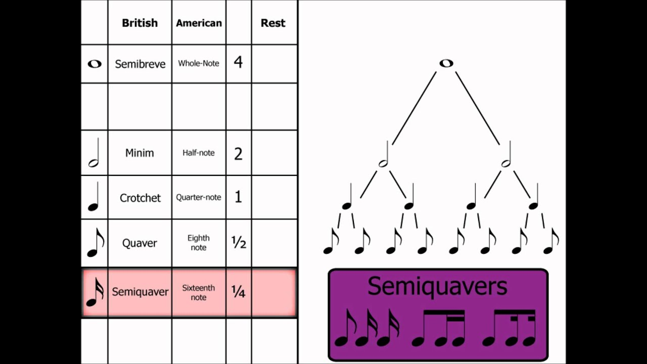 types of notes Types of notes: 1 of the most important parts of music is learning the types and values of notes here you will gain some understanding of how the notes look and sound.