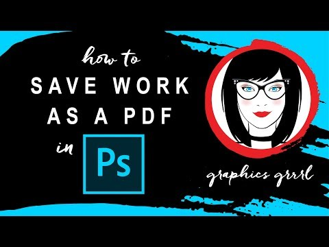 How To Save Your Photoshop File As A PDF