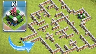 "NEW LVL 16 TOWER BEAST MODE!! ""Clash Of Clans"" EPIC MAZE BASE!!"