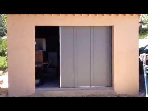 Porte de garage lat rale motoris e install e par apg acc s - Prix porte de garage laterale motorisee ...