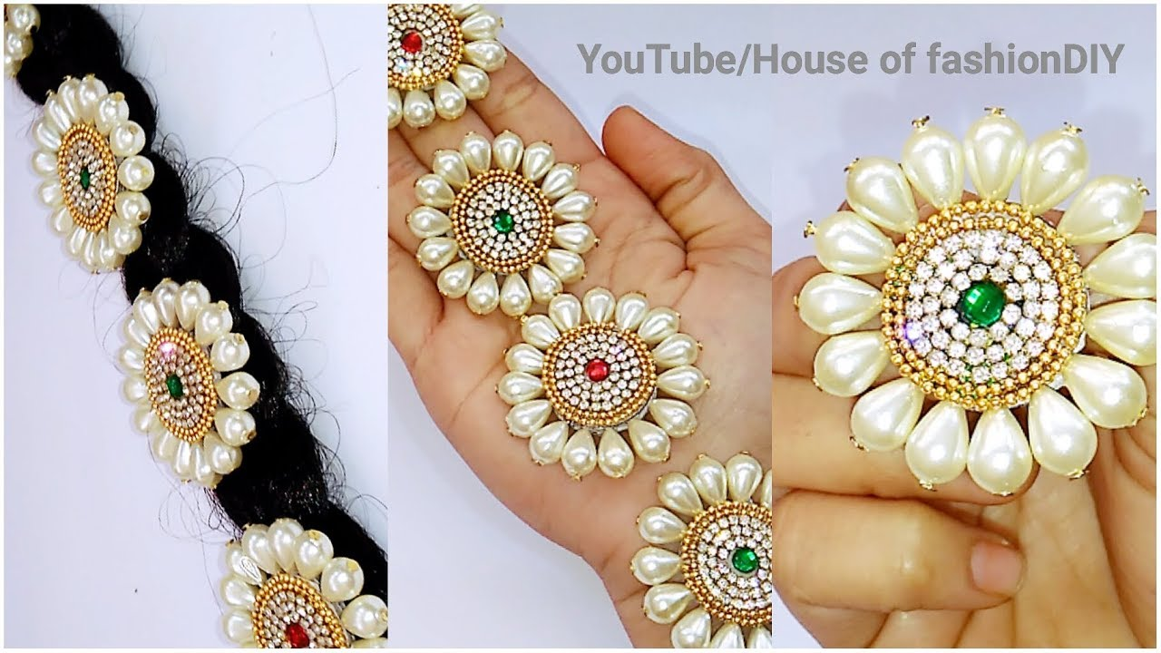 How To Make Bridal Hair Accessories Using Pearls Jada