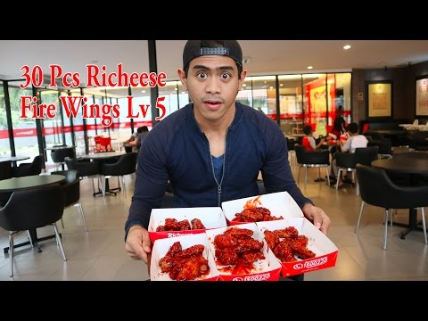 30 Pcs Richeese Fire Wings Lv 5 CHALLENGE | Special 7K Subs Tanboy Kun