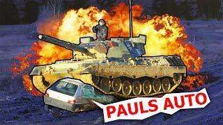 Mit nem Panzer über Praktikant Pauls Peugeot - World of Tanks