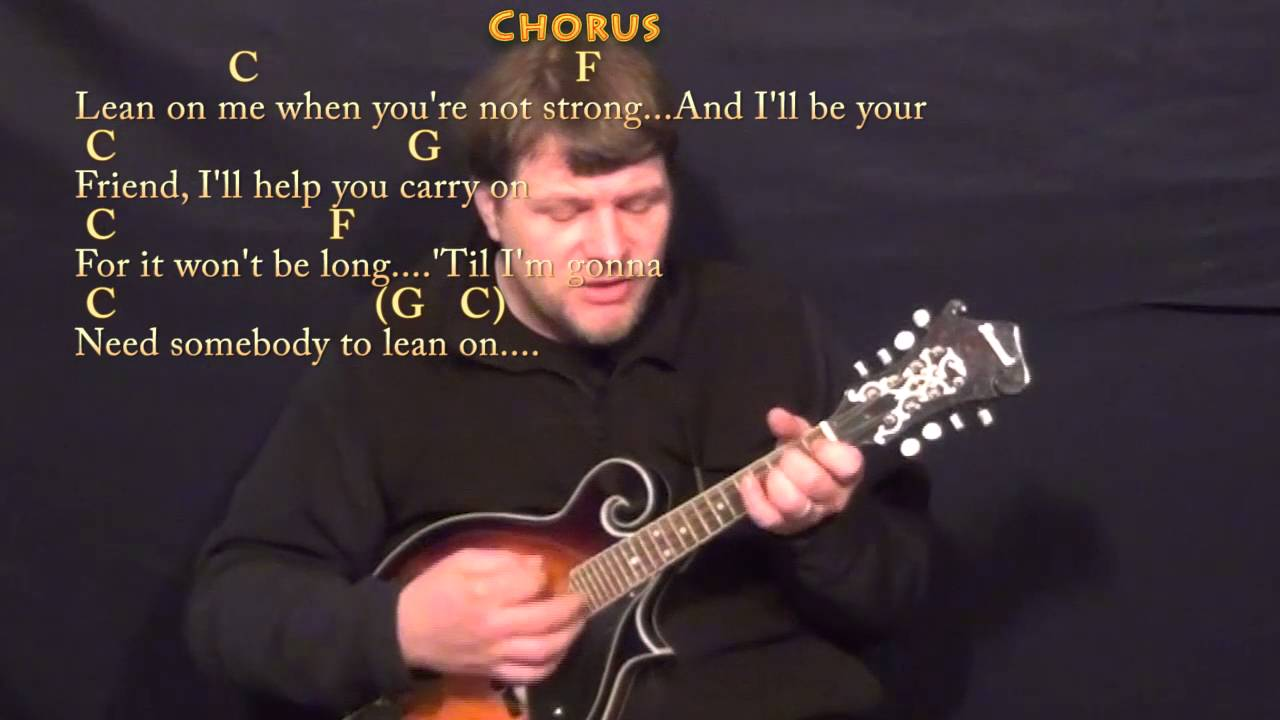 Lean On Me Bill Withers Mandolin Cover Lesson With Chordslyrics