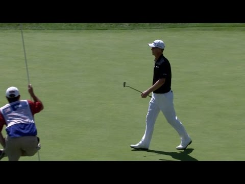 John Senden drains massive birdie putt at Barclays