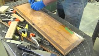 Restoring The Door To A Tall Case Clock - Thomas Johnson Antique Furniture Restoration