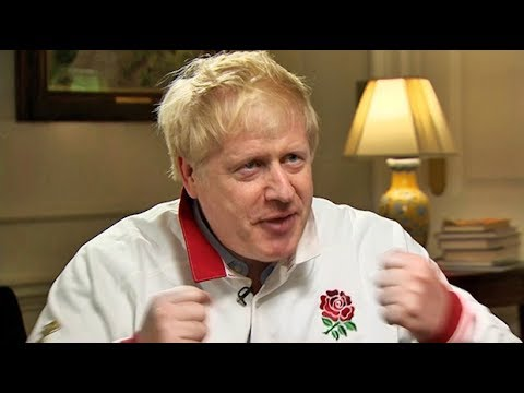 Come on, England! Boris Johnson's message for Rugby World Cup final