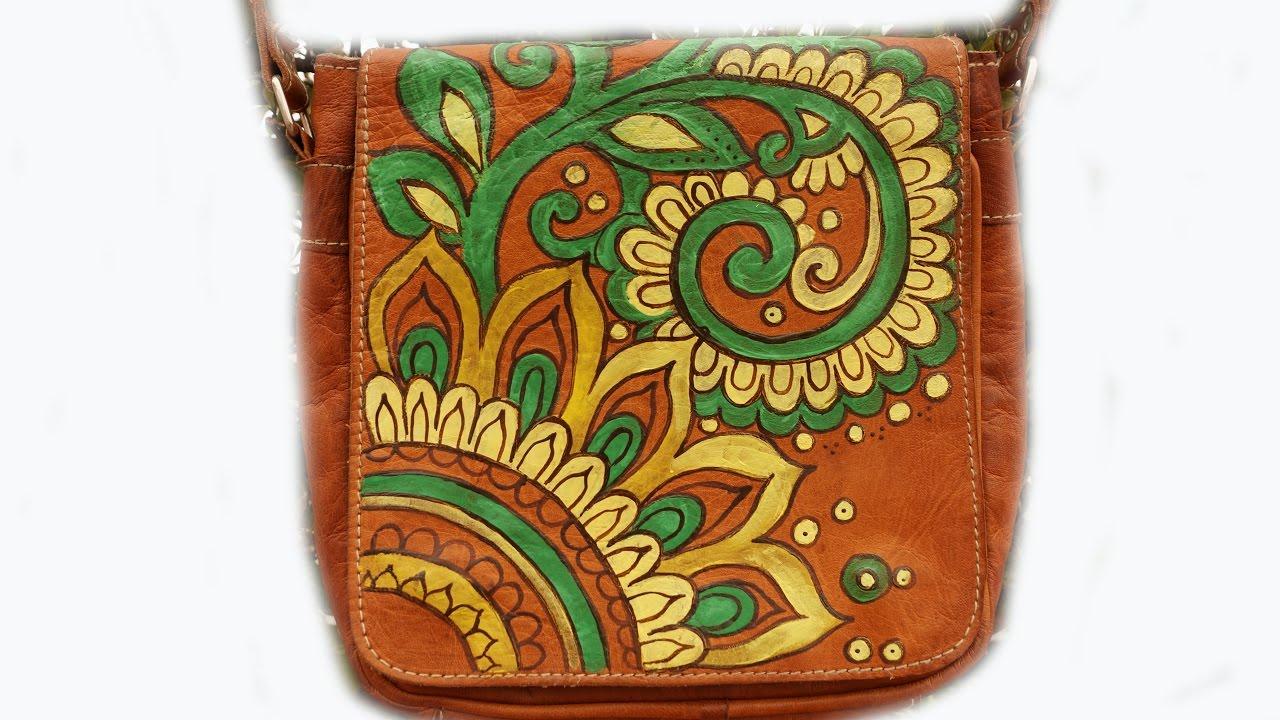 Macchie Di Unto Sulla Pelle come #dipingere sulla pelle #decorare una #borsa #colori di olio. Как  сделать #узор #сумка