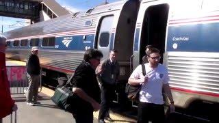 Boarding Amtrak regional train 160 engine number 626 at Kingston, RI.