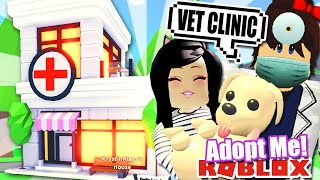 I OPENED A VET CLINIC in ADOPT ME | SHOP HOME UPDATE TOUR Pet Hospital