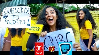 """T-Series vs PewDiePie""""   Cutest Indian Girl Reacts to The Most Subscribed YouTuber at IPL!"""