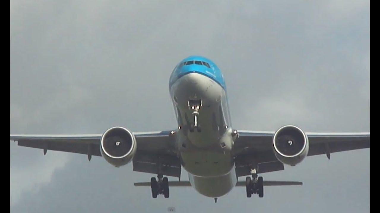 KLM Boeing 777-300/ER landing Schiphol Amsterdam Airport