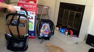 Baby Trend Snap N Go Ex Universal Car seat Carrier review with Reborn Baby Paisley!!