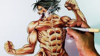 Cómo Dibujar a Eren Titan (Shingeki No kyojin) | How to draw Eren Titan form | ArteMaster